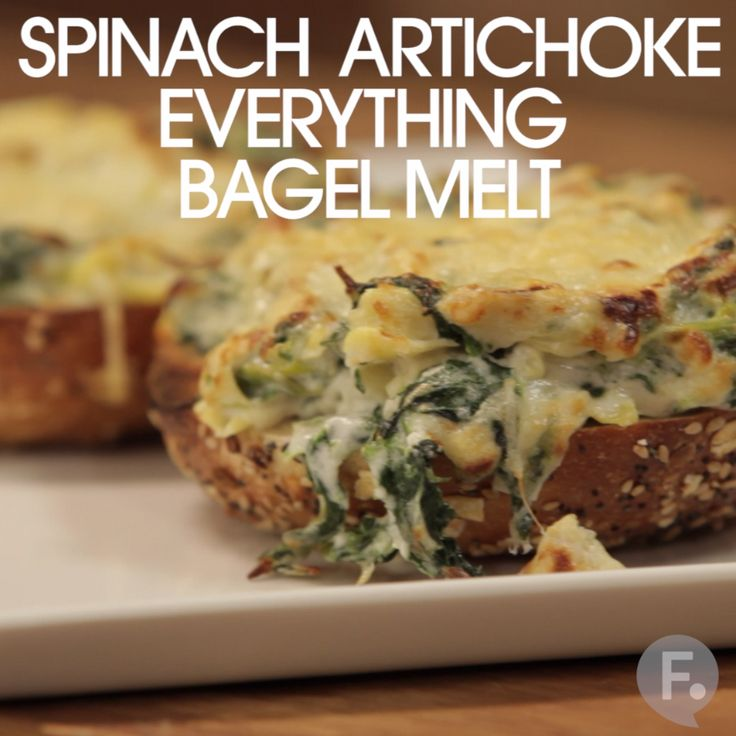 Spinach Artichoke Everything Bagel Melt
