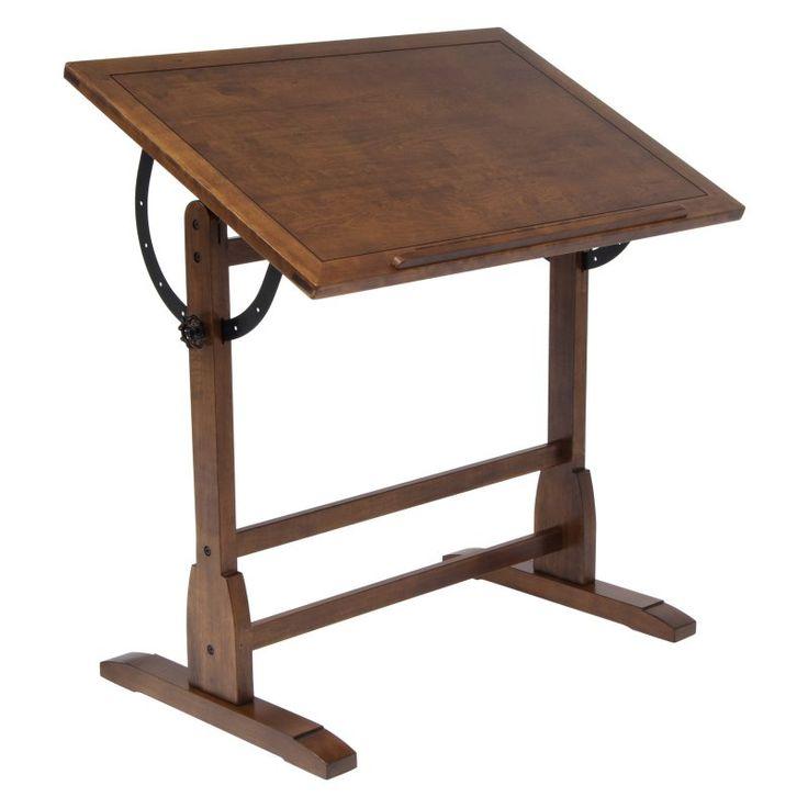 Vintage Drafting Table - Rustic Oak - 13304, Studio Designs