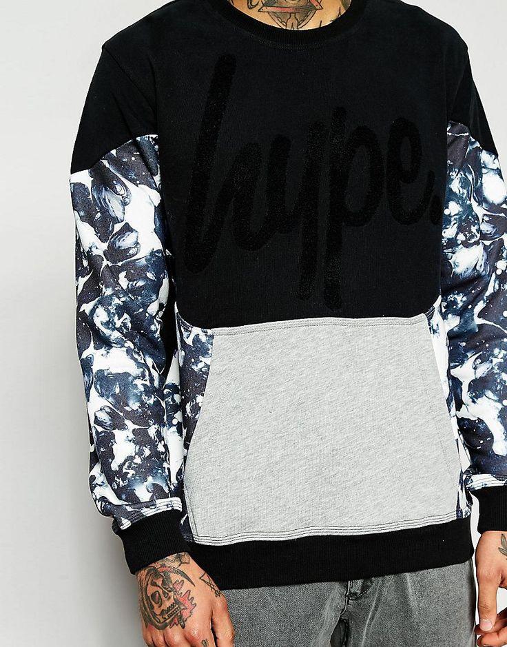 Image 3 ofHype Sweatshirt With Monochrome Print Panels