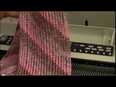 Diana natters on... about machine knitting: New Video for September - Slant Lace Circle Scarf