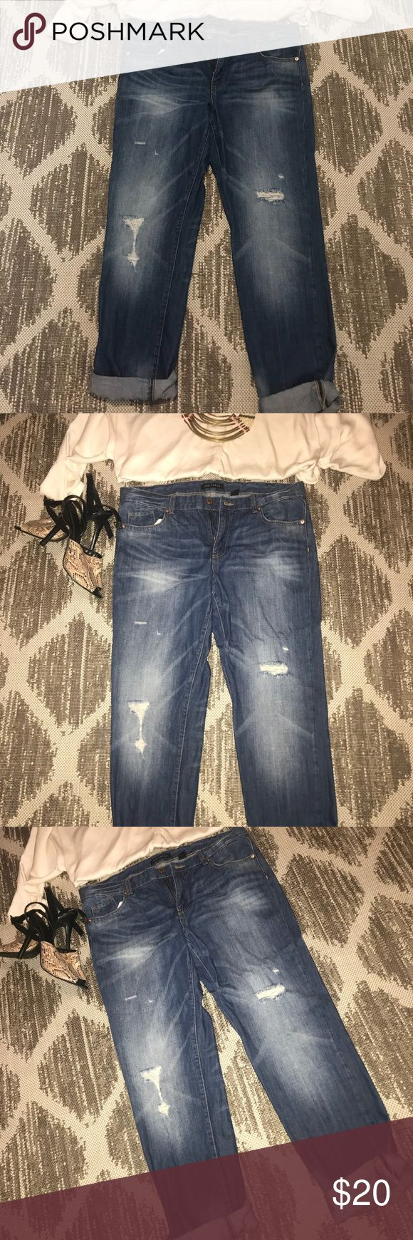 Joe Fresh NWOT Denim Boyfriend Jeans Joe Fresh Distressed Boyfriend Jeans! Never been worn! Dress them up or dress them down, add heels or flats you'll be sure to make a statement in these jeans! All offers accepted! Joe Fresh Jeans Boyfriend