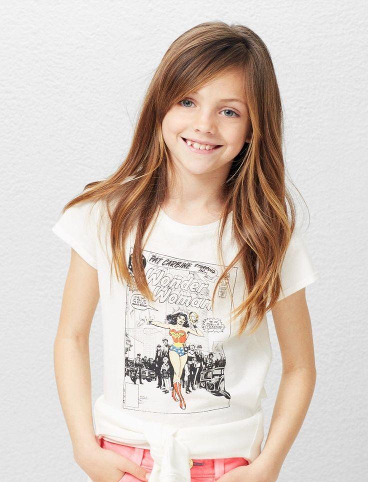 Lange Haarmodelle Haarschnitt Madchen 10 Jahre Lange Haare Stufenschnitt Schrager Pony Seitens Kinderhaarschnitt Madchen Kinder Haar Madchen Haarschnitt
