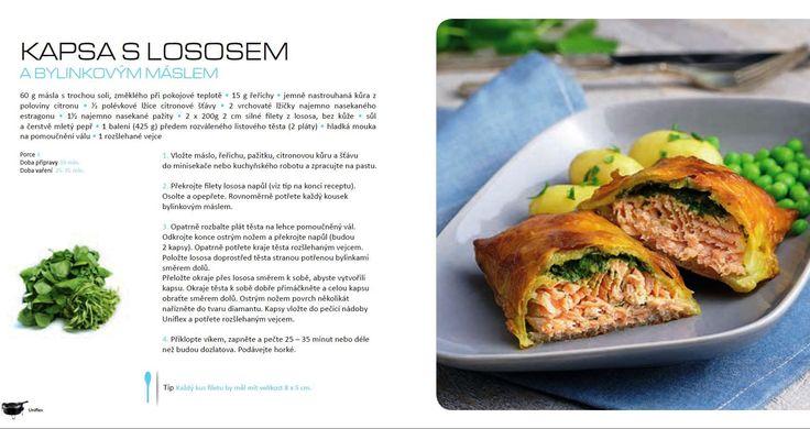 Kapsa s lososem a bylinkovým máslem, recept Tefal Uniflex