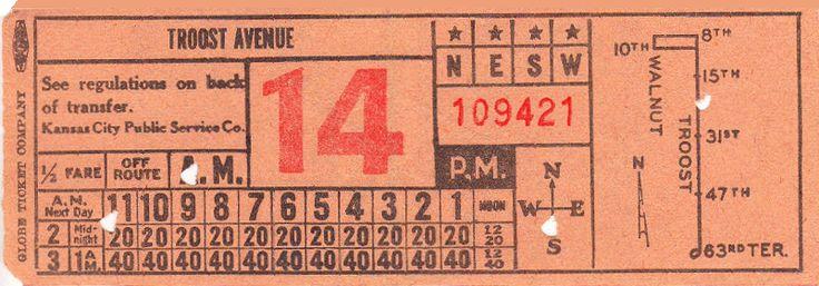 Transfer from Kansas City (Missouri) Public Service Company (1940s)