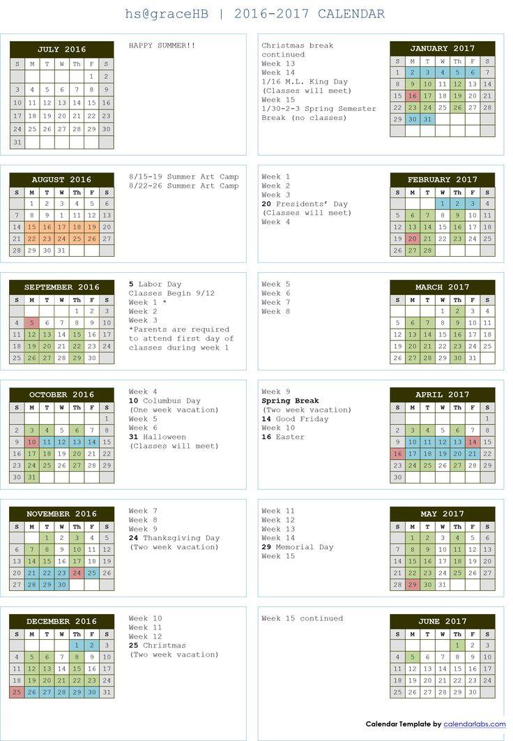 The  Best Academic Calendar Ideas On   Atlanta