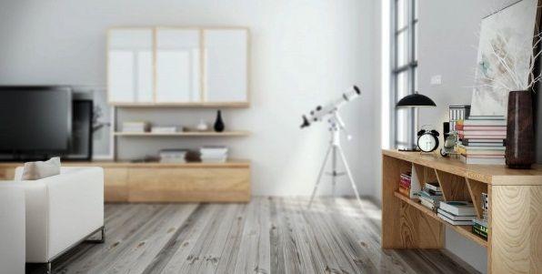 Awesome Scandinavian Interior Design for Small Apartment: Contemporary Nordic Interior Design White Oak Flooring With Telescope ~ rugdots.com Apartment Inspiration