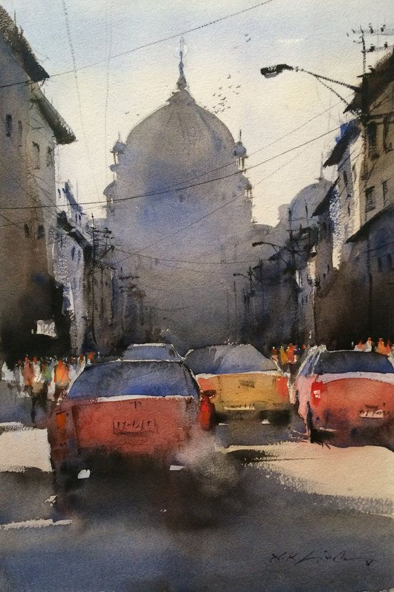 17 best images about original cityscape watercolor for Online art gallery paintings