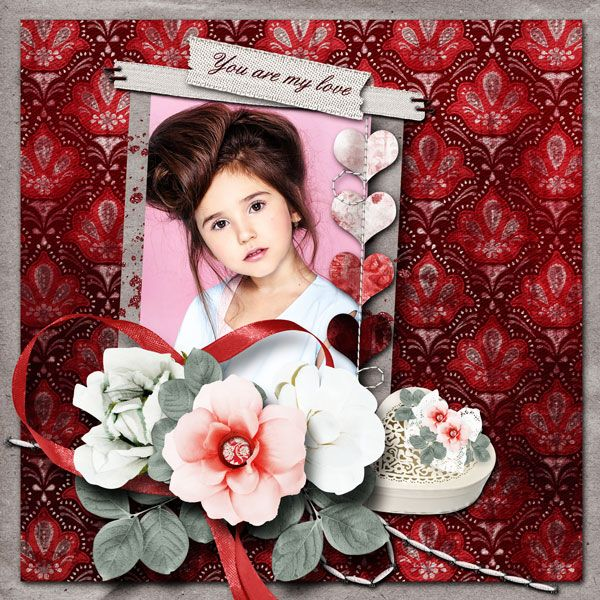 """Monthly Challenges Just Art - Feb 2017 """"French Romance"""" Minikit by Nutkin Tailz Designs  http://forum.justartscrapbooking.com/forum/our-challenges/february-2017-challenges/49597-let-s-use-half RAK for  Emilija"""