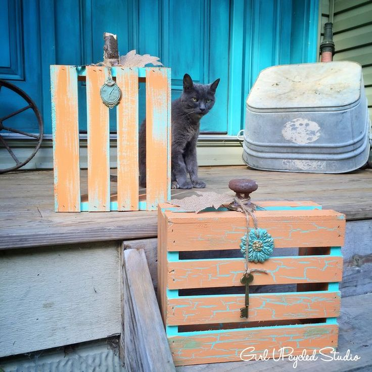 Fall diy crackle crate pumpkin diy oh my pinterest for Bedroom furniture in zanesville ohio