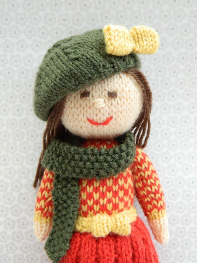 Aster - An Autumn Doll - Toy Knitting Pattern by Joanna Marshall, £3.00 GBP