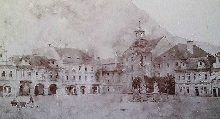 Patrně nejstarší foto náměstí. Rok 1865 | FB Milan Nepraš Novák