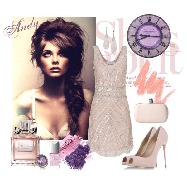"""Embroidered dress"" by andyts on Polyvore"