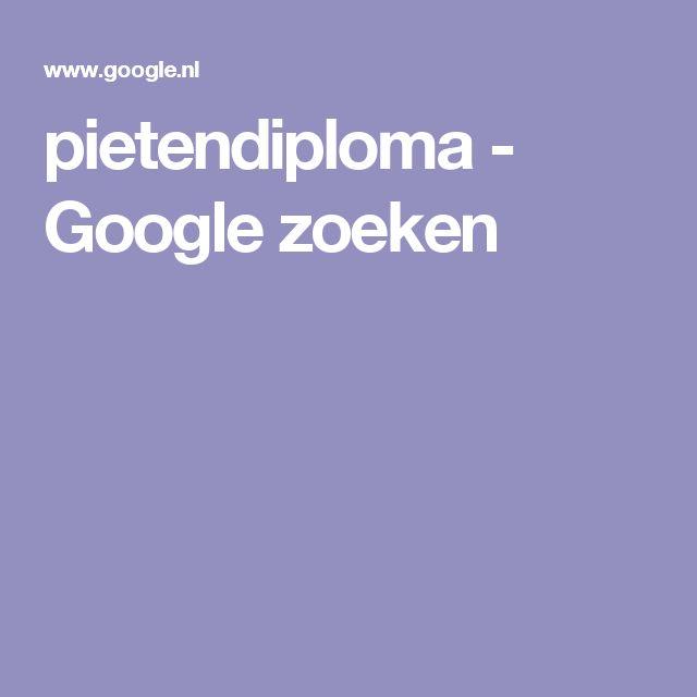 pietendiploma - Google zoeken