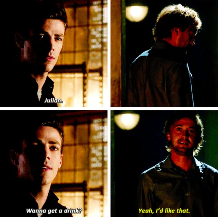 """Julian. Wanna get a drink?"" - Barry and Julian #TheFlash"