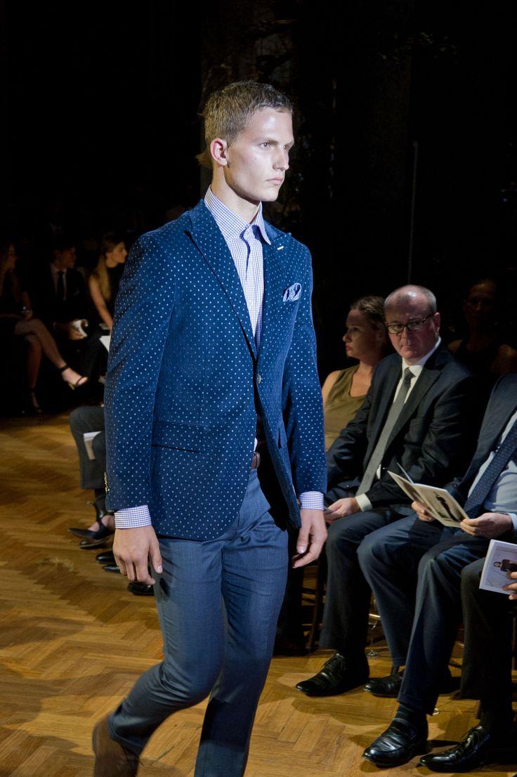 M.J. Bale Bristol navy jacket & Maitland denim trouser  © Esteban La Tessa - La Tessa Photography