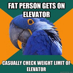 Paranoid Parrot.  This is me!  I count them and then look at the weight limit again.
