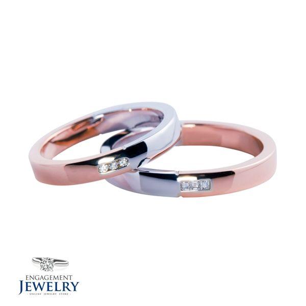 Set verighete cu Diamant PAL-VEG-005   Set verighete cu Diamant(6.70g 5.40g)