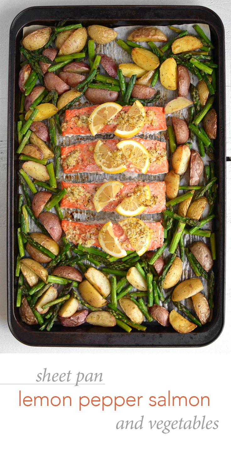 Sheet Pan Lemon Pepper Salmon and Veggies – Using a bare minimum of dishes, this simple, zesty weeknight meal will help you actually ENJOY dinner with your family!
