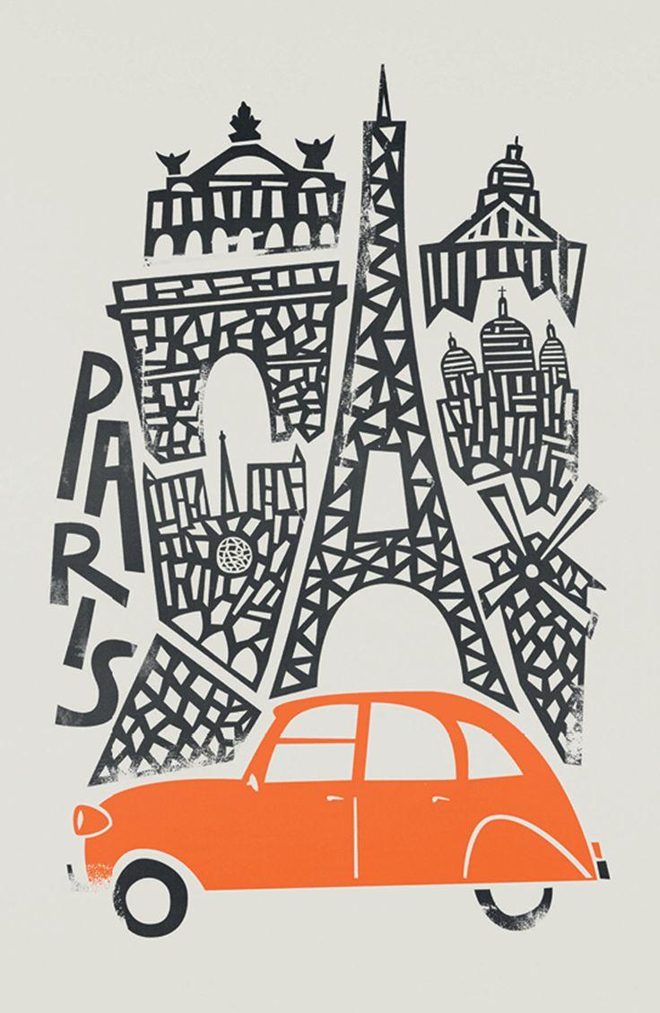Paris by Fox & Velvet for U Studio Available online at USTUDIO.DESIGN #postcards #design #illustration #artists #design #typography #product #greetingcard #stationery