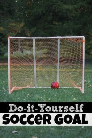 It's soccer season!  Check out this cheap DIY Soccer Goal (sturdier than most store-bought goals)!