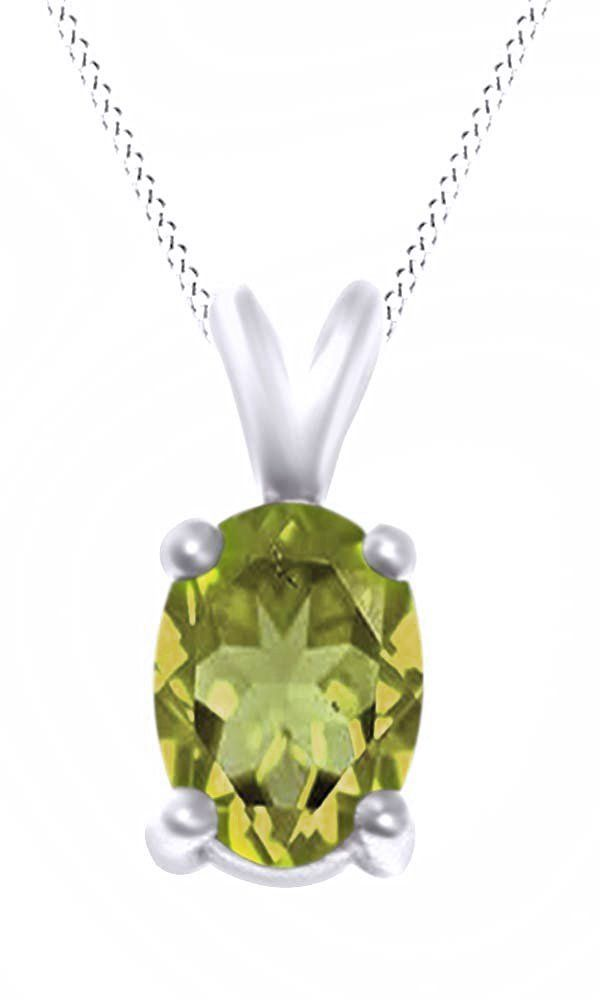 Oval Cut Solitaire Peridot August Birthstone Pendant Necklace In 10K White Gold (5 Cttw). Adds A Touch Of Nature-Inspired Beauty To Your Look Oval Cut Solitaire Pendant Necklace In 10K White Gold Makes a Standout Addition to Your Collection with 5 Carat August Birthstone Peridot. Gold is a dense, soft, shiny, malleable, and ductile metal, Gold is a synonym for wealth and money even though in the modern world it is neither. Perfect gift idea for Christmas, party, wedding, engagement...