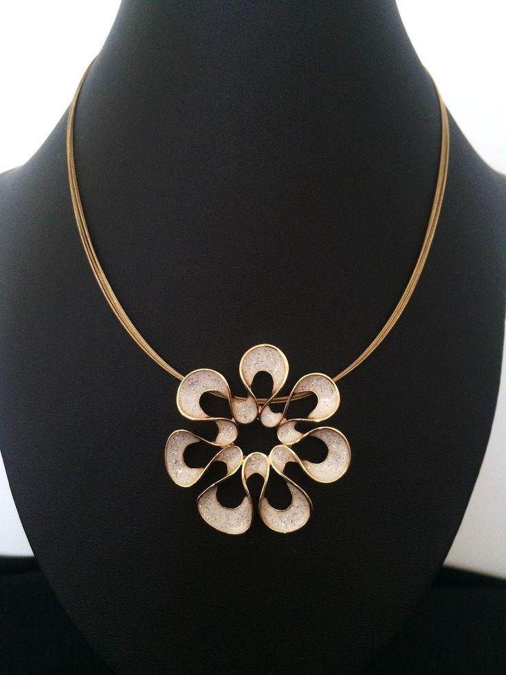 Unique Fashion Jewellery Australia - White Flower Pendant Ikita Necklace, $40.00 (http://www.uniquefashionjewellery.com/white-flower-pendant-ikita-necklace/)