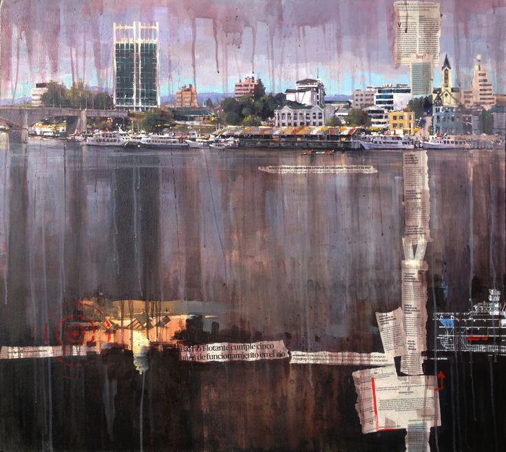 Valdivia y su Río In Situ 2018 Edgardo Contreras de la Cruz Acrílico sobre tela 100 x 90
