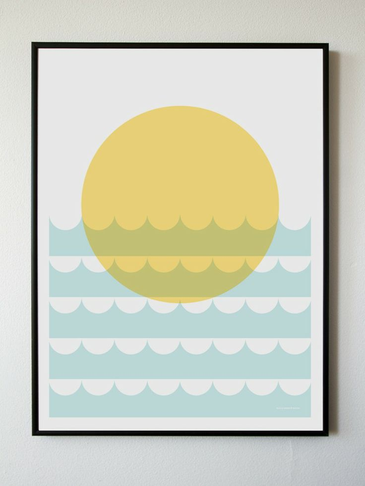 Sunset+Over+The+Shore+Print