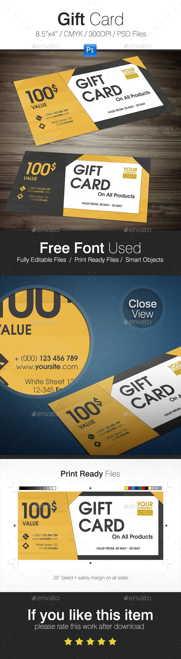 366 best gift voucher templates images on pinterest gift card template psd yadclub Image collections
