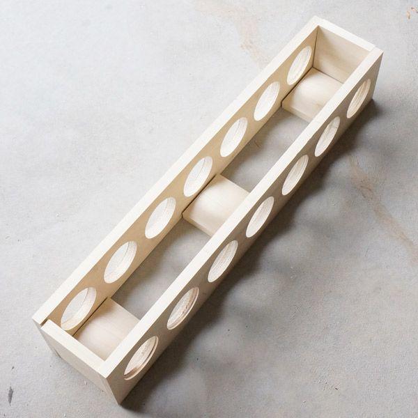 DIY wine rack assembly