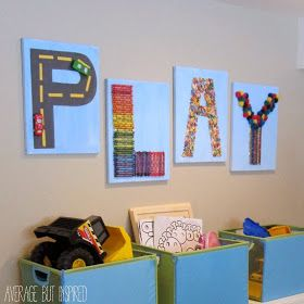 Playroom art made with Dollar Tree supplies!