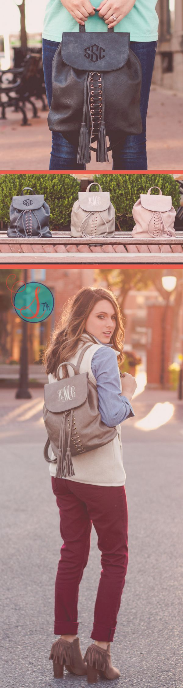Faux Leather Monogrammed Mini Backpack Purse | Monogrammed Mini Backpack | Mini Rucksack | Monogrammed Gift | Gifts for Her ||  Add an element of fun to any outfit with this year's hottest fashion craze. Our monogrammed mini backpack purse is a popular gift for the girl who has everything (and wants to take it all with her)!