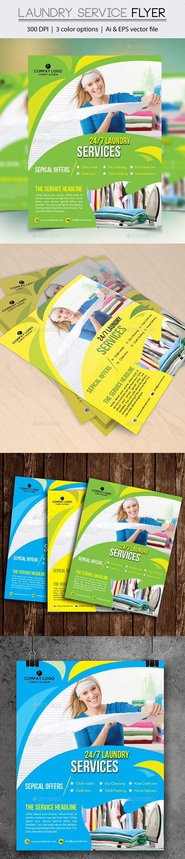 34 best laundry flyer images on pinterest creative letters and laundry service flyer pronofoot35fo Image collections
