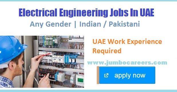 Electrical Engineer Jobs in Dubai UAE April 2018, jobs in