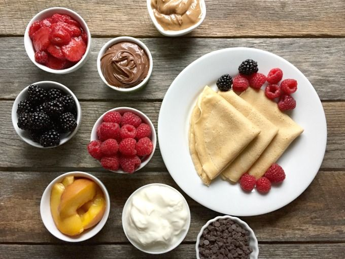 How to Create a Whole Wheat Crepe Bar for Breakfast or Dessert