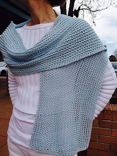 Free Pattern: Open Space Mesh Scarf by Ann McCauley