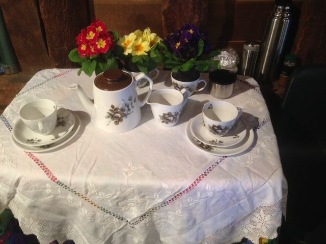 Tea for two in the barn at Duck Pond Ruislip