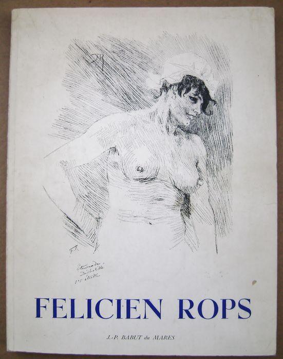 Félicien Rops; Lot met 2 boeken over Félicien Rops PLUS een Rops-tentoonstellingsaffiche - 1971/2001 - Catawiki