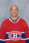 Manny Malhotra of the Montreal Canadiens poses for his official headshot for the 20142015 season on September 18 2014 at the Bell Sports Complex in...