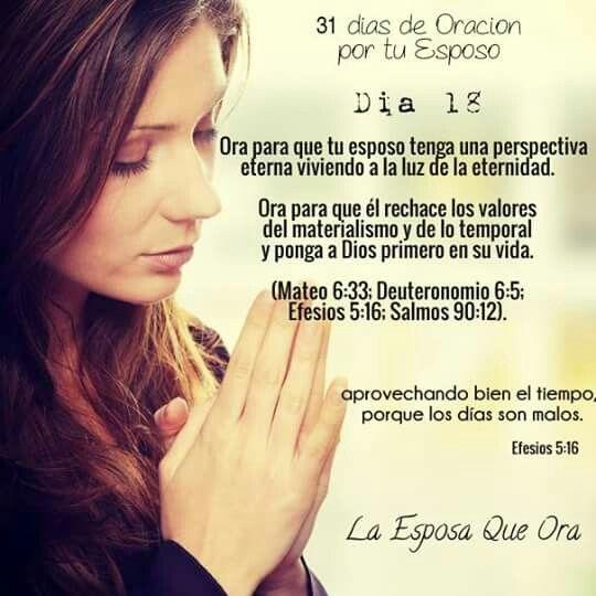 Día 18 Orando por mi esposo