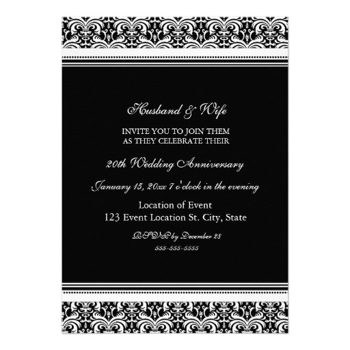 1000+ Ideas About Anniversary Party Invitations On