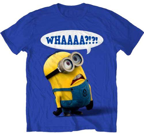 Despicable Me Whaaaa? Mens Royal Blue T-shirt L