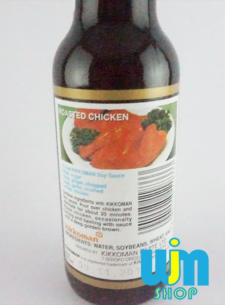 Kikkoman Soy Sauce 150 ml Kikkoman Soy Sauce isi: 150 ml Kemesan: botol kaca exp: 09 NOV 2018 Komposisi: air, kedelai, gandum, garam BOPM: 157209377008 Made in Singapore