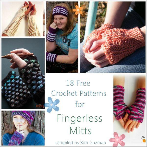Link Blast: 18 Free Crochet Patterns for Fingerless Mitts