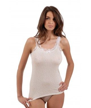 Vajolet - Top in cotton and lace