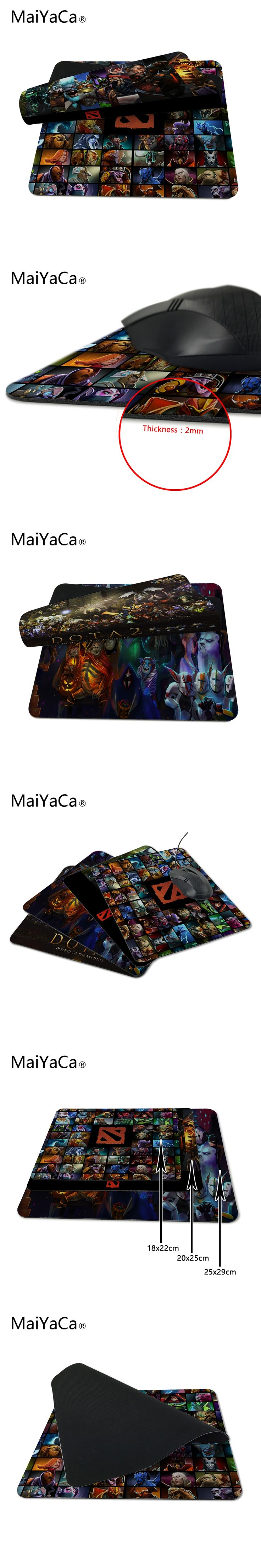 Hot Selling ame aming Dota 2 Main Charactors Art Design Durable PC Anti-slip Mouse Mat for Optal/Trackball Mouse