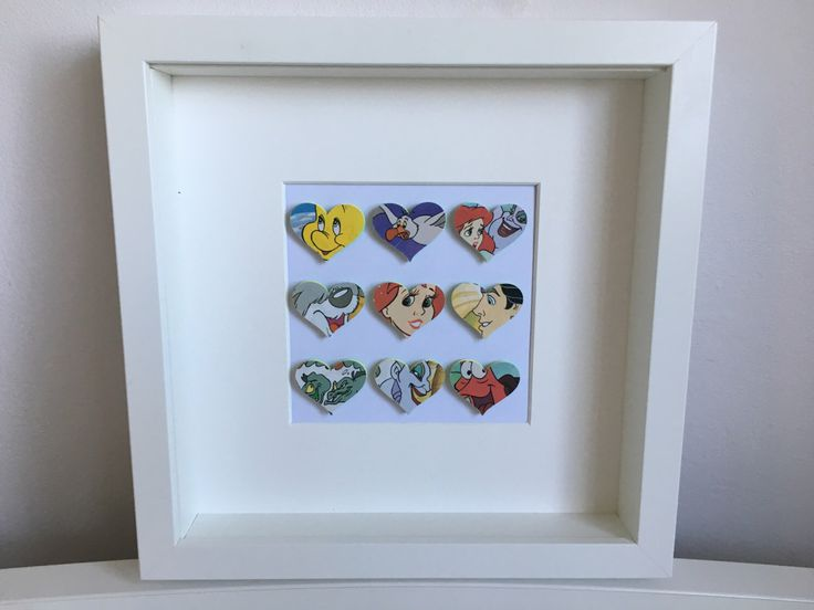 I Heart The Little Mermaid.  Favourite characters from film on heart in frame including Ariel, Ursula, Prince Eric, Flounder & Sebastien by StitchesandFrames on Etsy https://www.etsy.com/uk/listing/502470237/i-heart-the-little-mermaid-favourite