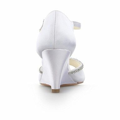 Women's Shoes Wedges  Wedge Heel Satin  Sandals with Crystal Wedding Shoes More Colors available – USD $ 49.99
