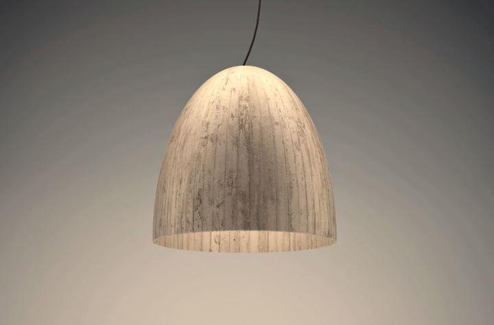 Lámparas de hormigón: cuando el diseño desafía al material