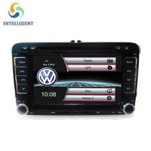 2 DIN Lecteur DVD de Voiture GPS Radio stéréo pour VW golf 4 golf 5 6 touran passat sharan jetta caddy t5 polo tiguan transporter SIÈGE(China (Mainland))